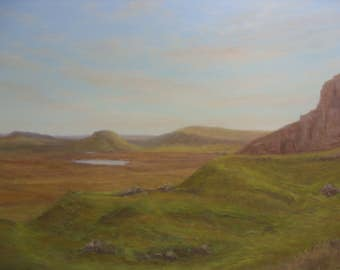 Isle of Skye... route to The Quiraing   oil painting