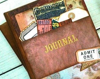 Journal Notebook Diary Life Story Sketchbook Art Journal Keepsake with Unlined Pages Gift for Her Gift for Him Memories