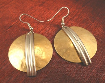 SALE - Earring Jewelry Designs - Bronze Silver Earrings BSER-1