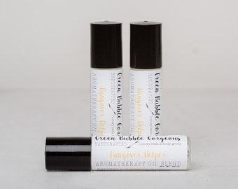 Aromatherapy Hangover Helper Roll On, made with essential oils, by green bubble gorgeous on etsy