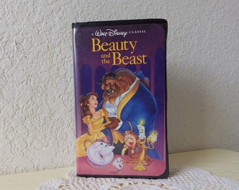Beauty and the Beast, A Walt Disney Classic in Rare Black Clamshell Case, 1992