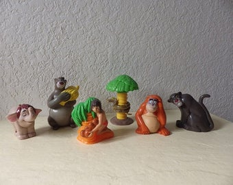 Disney Jungle BookComplete Set of 6 McDonalds Kids Meal Toys - Candy Dispensers -1997