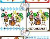 2 custom Oktoberfest Coasters