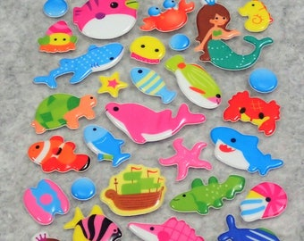 Mixed Under Water World Mermaid Stickers