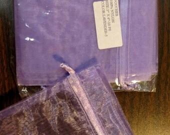 Lavender drawstring pouch 10 pcs