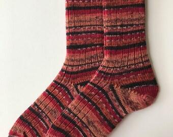 Women's Knitted Socks, Patons Kroy, Hand Cranked