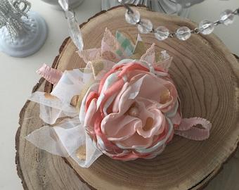 Melon love spring flower headband, Baby Headband, Cozette couture, Easter headband