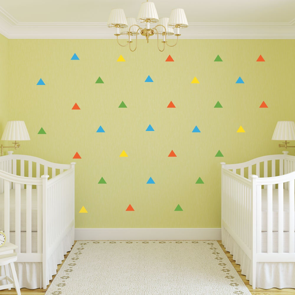 Triangle Wall Decals - Geometric Decal - Wall Decals - nursery decor ...
