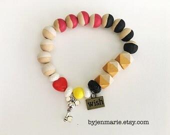 Disney Mickey inspired bead bracelet