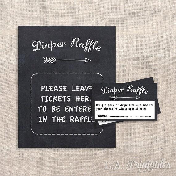 Diy Baby Shower Diaper Invitations Chalkboard Diaper Raff...