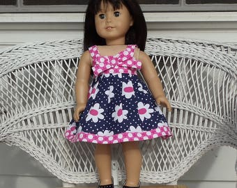 Daisy and Dot Sundress Handmade To Fit 18 Inch Dolls Like American Girl
