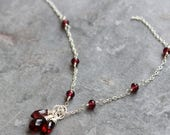 Custom Garnet necklace to go with your earrings