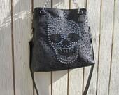 Custom leather and Swarovski stone bag for Samantha Ann Balance