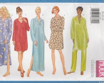 Nightshirt Pattern Pajama Nightgown Plus Size 20 - 22 - 24  Uncut  Butterick 5847