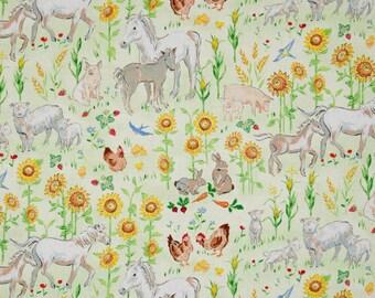 Farm Crib Sheet or Changing Pad Cover, Baby Crib Bedding, Animal Crib Sheet, Farm Animal Bedding, Nursery Decor, Barnyard Animals