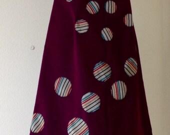 Dot Jump skirt with Kimono Fabric