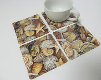 Set Of 4 Fabric Coasters/Shells