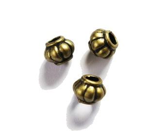 4 Bronze dreadlock beads