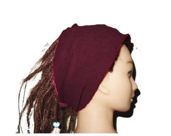 Bordeaux adult headband tube bohemian for dreadlocks