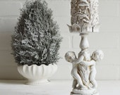 Cherub Candle Holder, Shabby Candle Holder, Angel Candle Holder, Cherub Pillar Holder, Shabby Cherub, Cherub Candle Stand