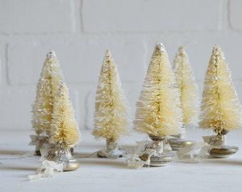 Bottle Brush Christmas Tree, Bottle Brush Tree, Shabby Christmas, Vintage Christmas, Christmas Sparkle, Christmas Decor,