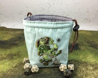 Deven Rue's King's Cross Map Dice Bag