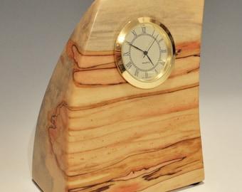 Flamed Box Elder Clock