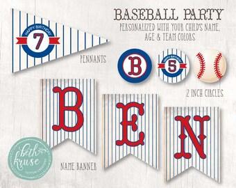 Baseball Custom Printable Party by Beth Kruse Custom Creations