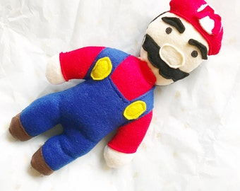Super Mario softie childrens doll toy nintendo inspired SALE