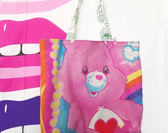 Care Bears large vinyl records tote reusable bag