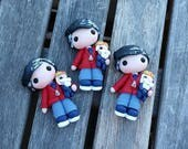 Mister Rogers Polymer Clay Doll, Pendant, Pin, Frame