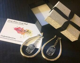 Birdcage Hoop earrings
