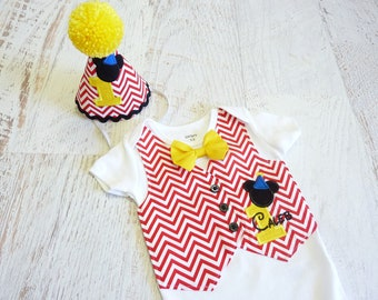 First Birthday Mickey Tuxedo Bodysuit Vest with Removable Matching Bow Tie