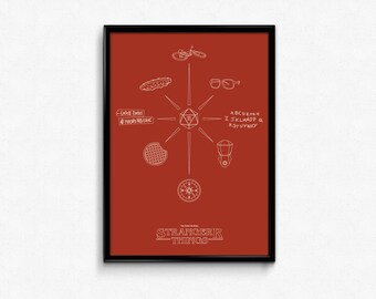 See You On the Other Side // Stranger Things Inspired Iconography Poster // Minimalist Scifi and Fantasy Art Print