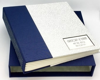 NEW Custom Interleaved Photo Album with Slipcase, Personalized, Design your Own, Made to Order