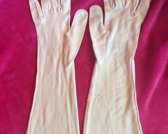 Long jersey gloves soft one size fits most White/flaw see details