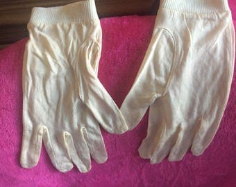 Silk gloves, glove liners, osfm, Ivory, new