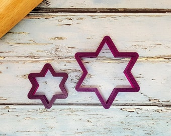 Star of David Cookie Cutter and Fondant Cutter and Clay Cutter