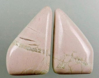 Pink Pony Magnesite Earring Cabs, Pink Pony, Pink Magnesite Cabs, Designer Pink Pony, Hand Cut, Pendant Cabs, Gift Cabs, C1409, 49erMinerals