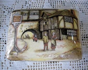 Vintage Sandland Ware Lidded Candy Box 'The Jolly Drover' Hanley England
