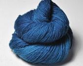 Blue Kingfisher flying too high - Merino/BabyCamel Fingering Yarn