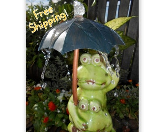 Frog Trio Original Pond Spitter/Spout or Disappearing Fountain Spout Water Fountain Feature- One-Of-A-Kind!
