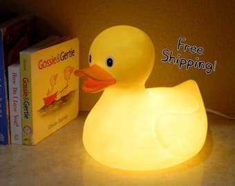 Rubber Duckie Size Medium Accent Lamp/Night Light - Home Decor