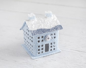 Christmas House - Ice Blue Manor House Vintage Style Decoration