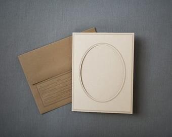 Oval Frame Notecard