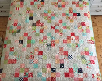 Cakewalk Quilt designed by Thimble Blossoms using Bonnie and Camille fabrics