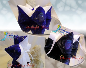 handmade fandom star shaped ring bearer pillow WHOVAIN STAR WARS tardis