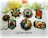Graphic 45 Times Nouveau Handmade Paper Embellishments and Paper Flowers for Scrapbook Layouts Cards Mini Albums and Papercrafts