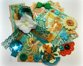 Graphic 45 Voyage Beneath the Sea Embellishment Kit, Inspiration Kit for Scrapbooking Cards Mini Albums Tags and Paper crafts
