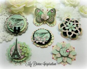 Kaiser Crafts Bonjour Scrapbook Embellishments Paper Embellishments for Scrapbooking Layouts, Cards, Mini Albums Paper Crafts
